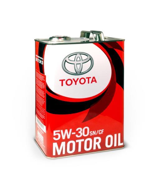Масло моторное синтетическое - TOYOTA MOTOR OIL SN/CF 5/30 4л 08880-83944